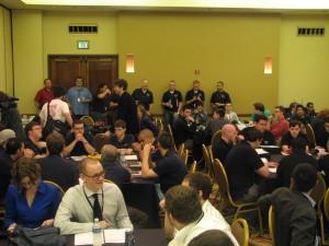 Teams gather in general room