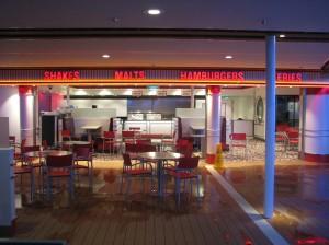 Johnny Rockets burger joint